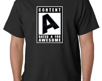 Rated A For Awesome T-Shirt All Sizes & Colors