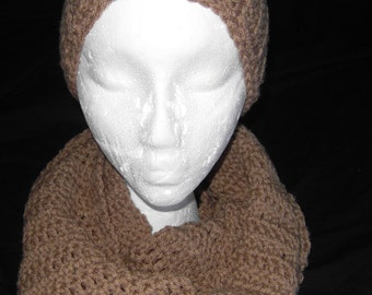 Brown (Honey) Multi color Infinity scarf