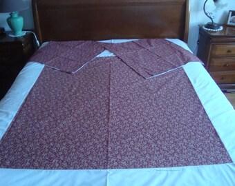 Garnet and white duvet cover + 2 pillowcases