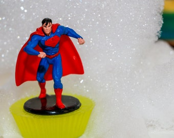 Superman Toy Soap, Kids Soap, Party Favors, Toy Soap, Kid Friendly Soap, Birthday Party, Marvel Soap, Marvel