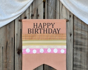 Happy Birthday Door Banner
