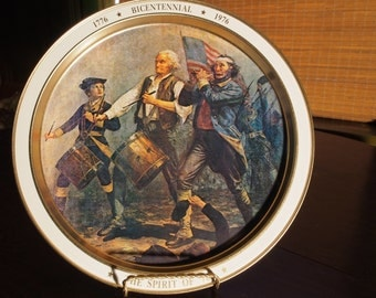 The Spirit of 76, Bicentennial 1776 - 1976, Vintage Tin Tray.