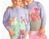 my little pony sweater and cardigan dk knitting pattern 99p