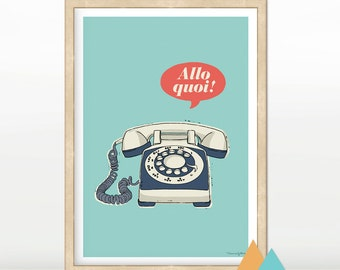 Poster / poster to message / figure / table / deco / A4 size * Allo! *