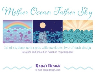 Mother Ocean Father Sky note cards