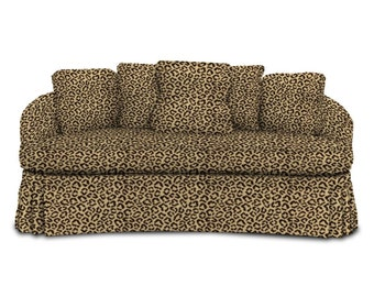 BRUNSCHWIG & FILS PANTHERE Panther Velvet Fabric 10 Yards Brown