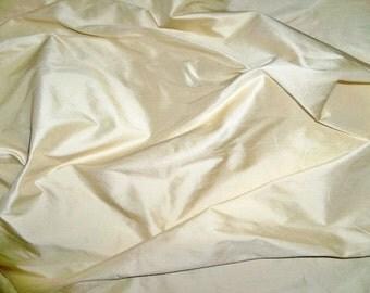 STROHEIM & ROMANN BUTTERCREAM Silk Dupioni Fabric 10 yards