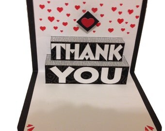 Thank You Pop Up Card with hearts