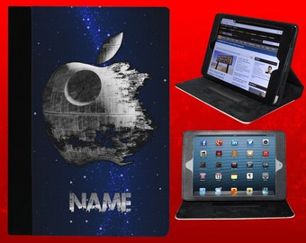 STAR WARS inspired folio case for Apple iPad mini - with your name [Deathstar]