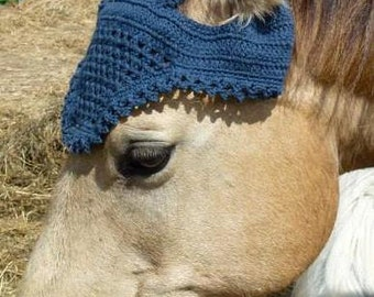 Hand Crocheted Horse Hat or Horse Bonnet- 100% Cotton - Gift for Horse Lover - Country Life - Equine - Riding - Natural Beauty - Equestrian