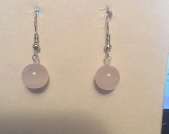Earrings With Glass Pearls Beads