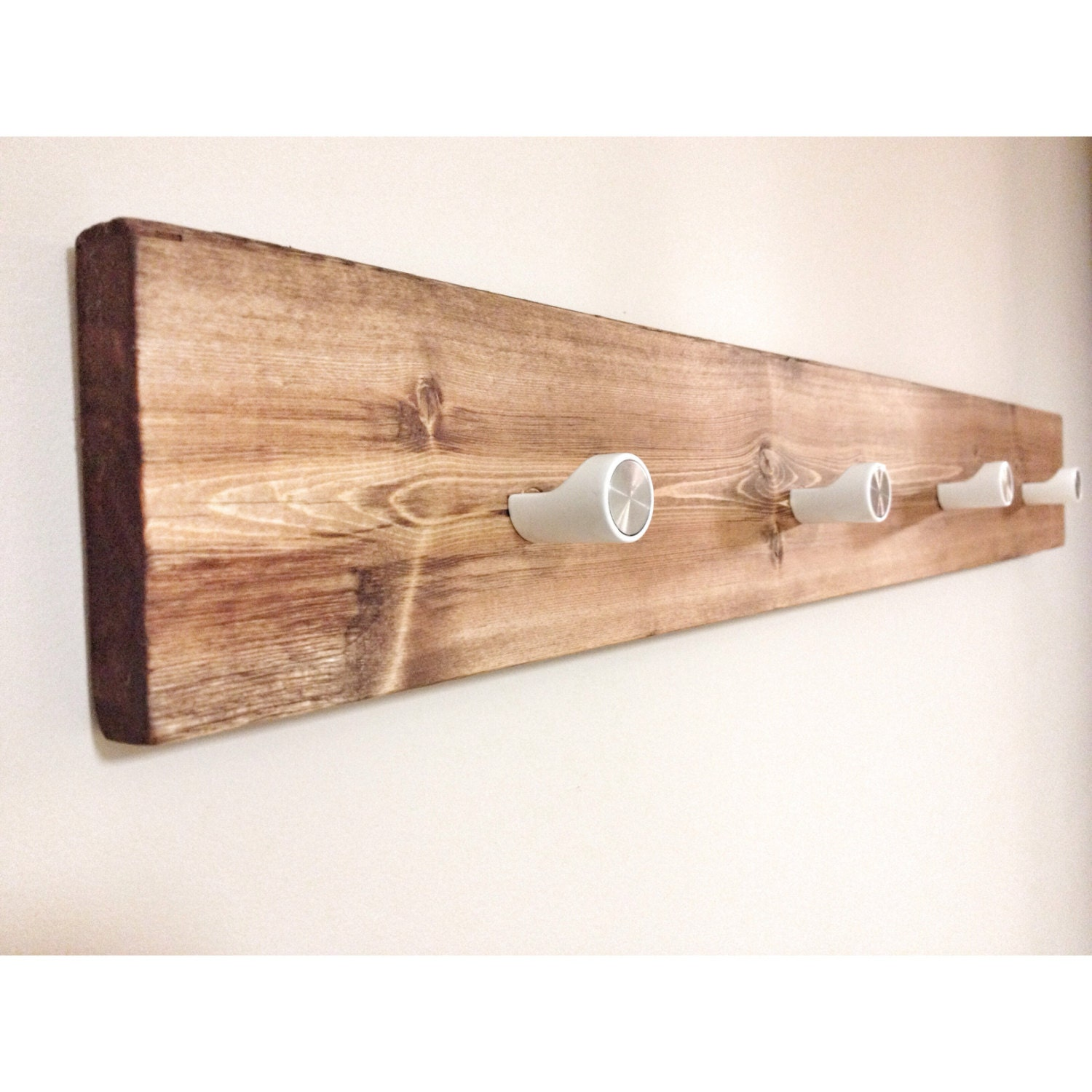 rustic wooden hook rack rustic home decor rustic furniture