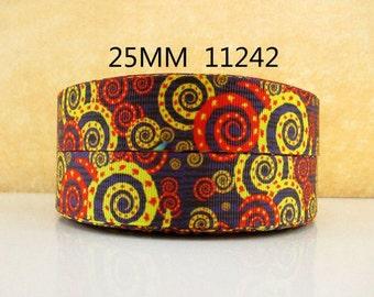 1 inch Kaleidoscope PATTERN 11242 - Printed Grosgrain Ribbon - Printed Grosgrain Ribbon for Hair Bow