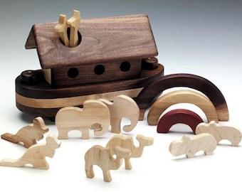 Wood Rainbow Ark Baby Gift Baptism Gift Christmas Birthday Noah's Ark wood toys