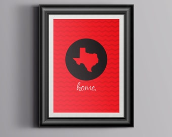 "Custom Home Decor- College Colors & State ""Home"" Wall Art"