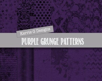 Purple Digital Paper - Purple Distressed Digital Paper - Purple Digital Paper Pack - Grunge Digital Paper (purple 1)
