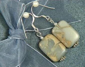 Earrings Serpentine 18mm Rectangles 925 ESSP1344