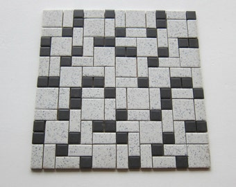 CH41 One Square Foot of Original Vintage Porcelain 1960s Floor Tile, 194 Sq Ft Available, Made in Japan