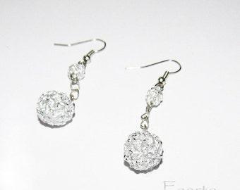 Crochet earrings beautiful silver color earrings designer earrings handmade women earrings gift ideas for her under 15 (CE-6)