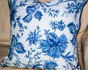 Pillow Sham - French Floral, Blue Floral
