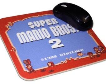 Super Mario Bros 2 Mouse Pad, 8 Bit, NES, Nintendo
