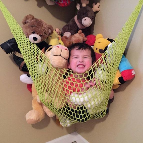 toy storage hammock large toy organizer kids room decor. Black Bedroom Furniture Sets. Home Design Ideas