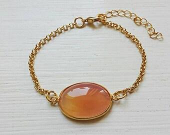 Bracelet with agate gemstone