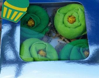 Baby Cupcake Washcloth Gift Set
