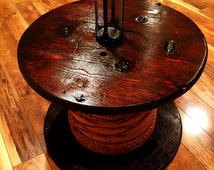 popular items for table spool on etsy. Black Bedroom Furniture Sets. Home Design Ideas