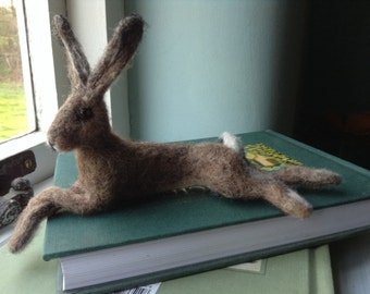 Needle felted hare.