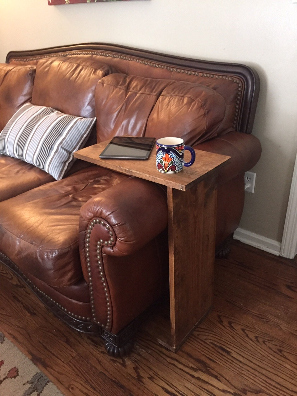 Couch And Chair Tv Tray Arm Rest Wood By Elliscustomcreations