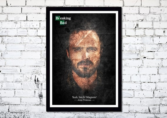 Breaking Bad // Jesse Pinkman // A3 poster print // Unique Art
