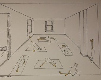 Goose Yoga Class