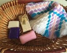 Massage Washcloth Crochet Face Cloths