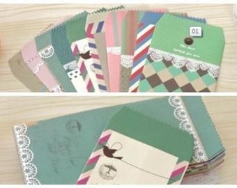 Romantic Colorful strip / lace 10 Designs Envelops