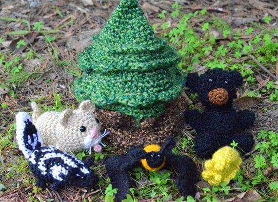 Amigurumi Forest Animals : Items similar to Amigurumi Redwood Forest Animals on Etsy