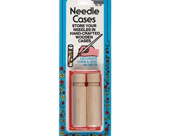 Wooden Needle Cases Tubes Storage Holders Collins W-25