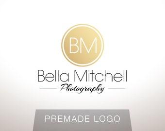 Logo Design - Premade Logo Design - Photography Logo - Studio Logo - Gold Logo - Clean Logo - Modern Logo, Customized for any business - 040