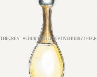 J'Adore Perfume Drawing