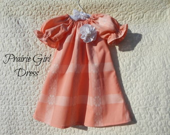 Girls Dress, Sun Dress, Toddler Dress, Birthday Outfit, Peasant Girl Dress, One-Of-A-Kind Dress