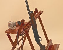 Portable Cherry 10 Gun Rack Perfect for Field or Lodge