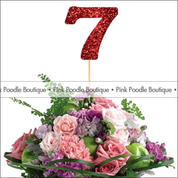 5 glitter number centerpiece pick choose from by for Glitter numbers for centerpieces