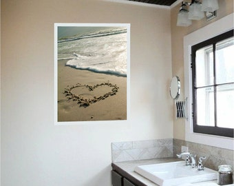 Heart in Sand Photograph