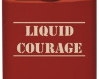 Liquid Courage 6 oz. Stainless Steel Flasks with FREE Funnel