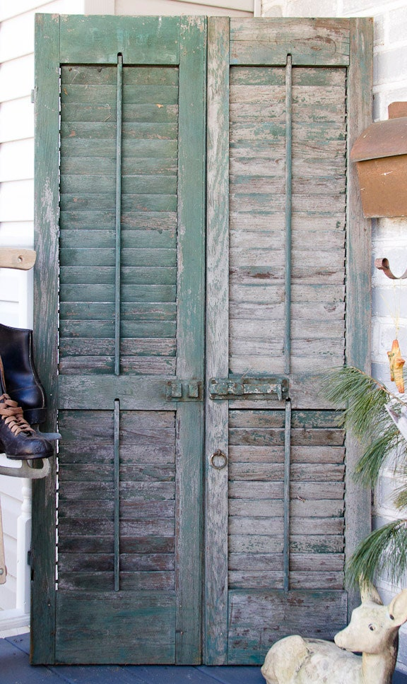 Antique Wooden Rustic Shutters Door Antique By Lloydstreasures