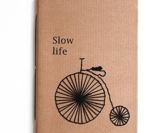Slow life, notebook for notes or drawings