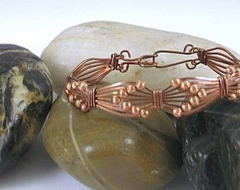Wire Wrapped Copper Arrows Bracelet  Cuff - Queen of Heaven