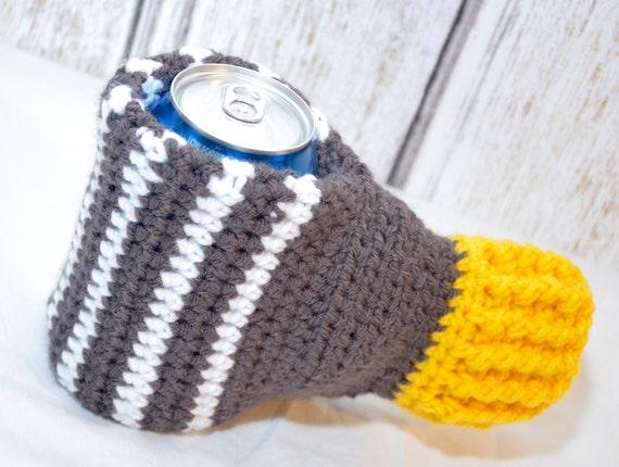 Pin Crochet Beer Koozie Mitten Pattern Images To Pinterest
