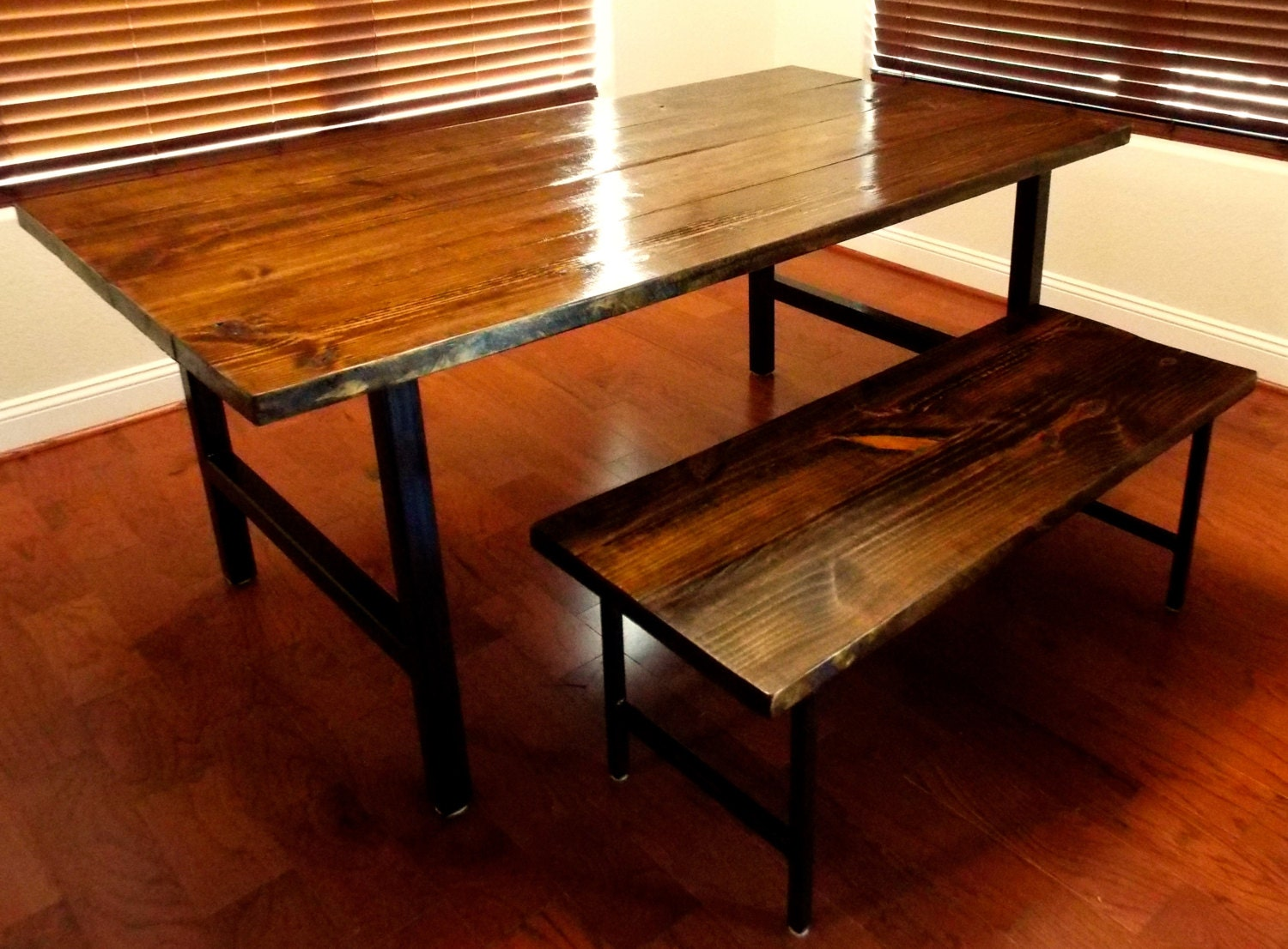 Modern Reclaimed Wood Dining Table And By HammerFoxFurnishings