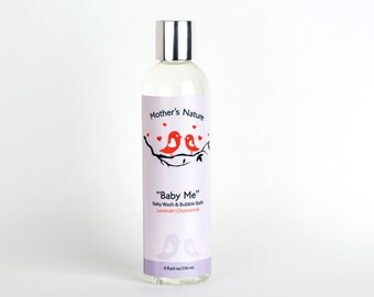 Baby Me Lavender Chamomile Baby Body Wash and Bubble Bath Natural Skin Care Baby Products Shower Gel Bath and Beauty Products